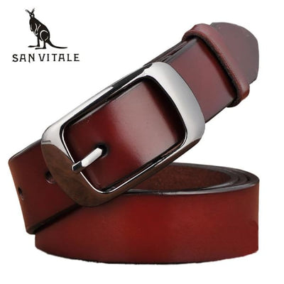 SAN VITALE Vintage Womens Leather Belt - Belt