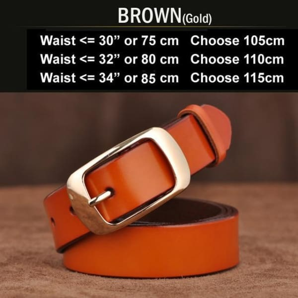 SAN VITALE Vintage Womens Leather Belt - N17062GBrown / China / 39.25 - Belt