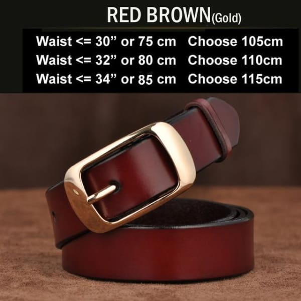 SAN VITALE Vintage Womens Leather Belt - N17062GRBrown / China / 39.25 - Belt