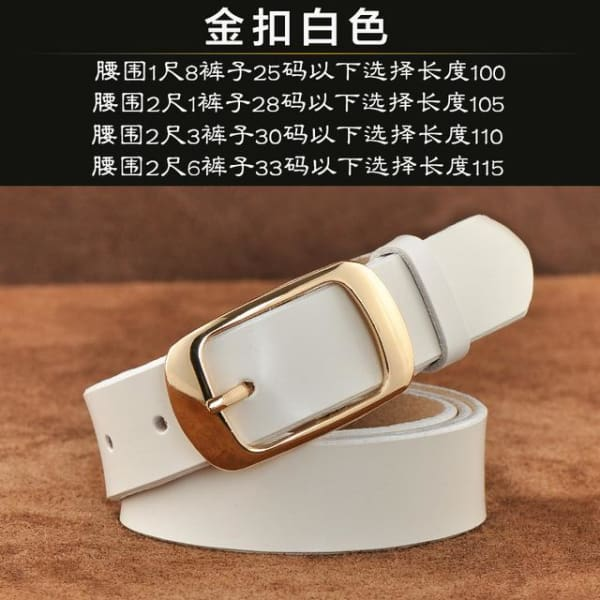 SAN VITALE Vintage Womens Leather Belt - N17062GWhite / China / 39.25 - Belt