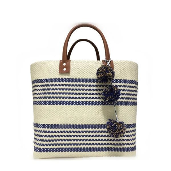 Boho Stripe Beach Bag - Navy - Beach Bag
