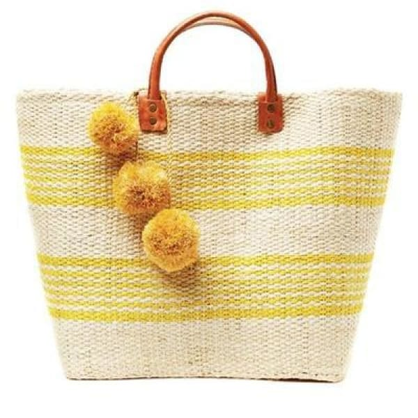 Boho Stripe Beach Bag - Yellow - Beach Bag