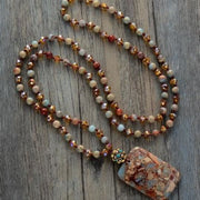 Boho Semi-Precious Stone Necklace - Beaded Necklace