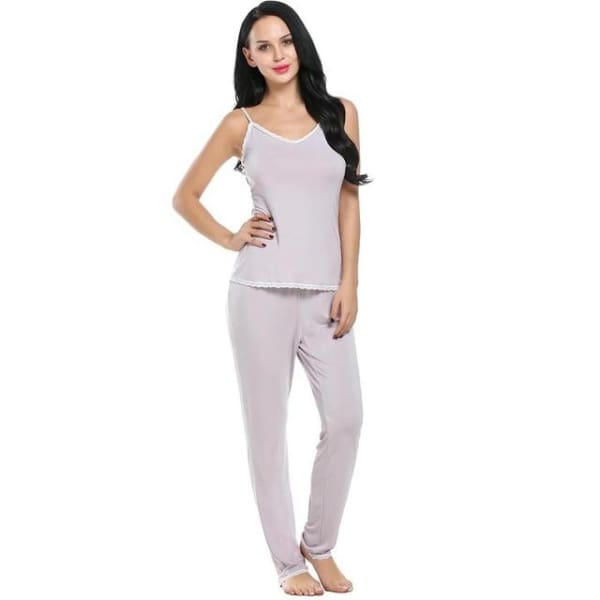 Rayon Pajama Set For Women - Apricot / L - Pajamas