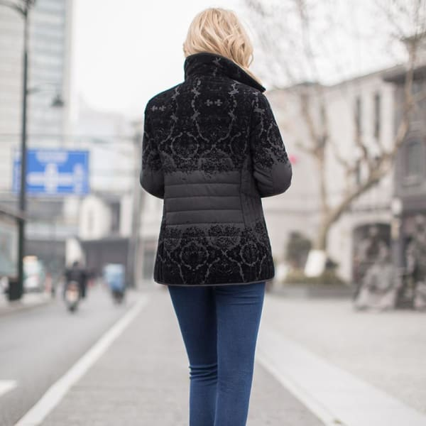 Casual Quilted Flock Jacket - Jacket