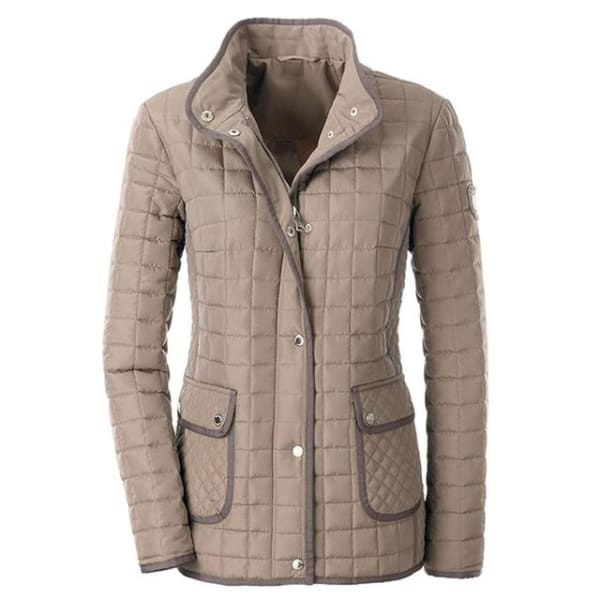 Casual Quilted Coat - Beige / S - Jacket