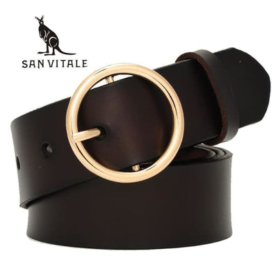 SAN VITALE Womens Luxury Leather Belt - Belt