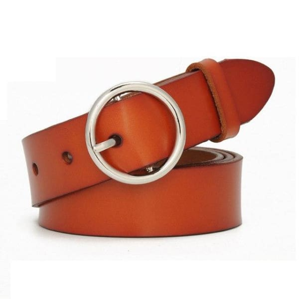 SAN VITALE Womens Luxury Leather Belt - N17072SBrown / China / 39.25 - Belt