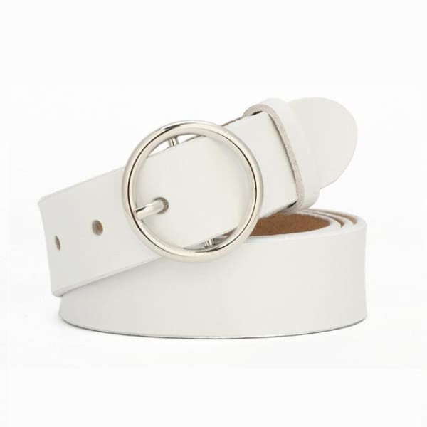 SAN VITALE Womens Luxury Leather Belt - N17072SWhite / China / 39.25 - Belt