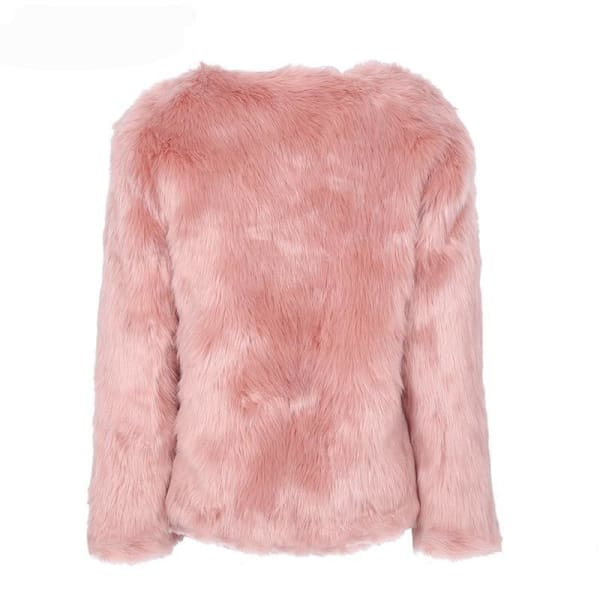 Faux Fur Rabbit Coat - Coat