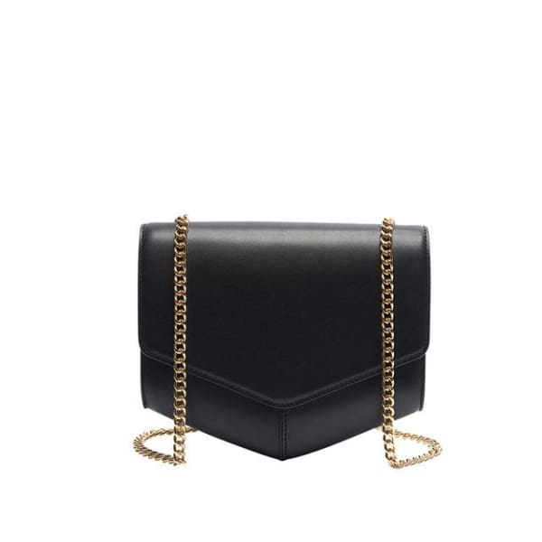 Leather Envelope Messenger - Black - Envelope