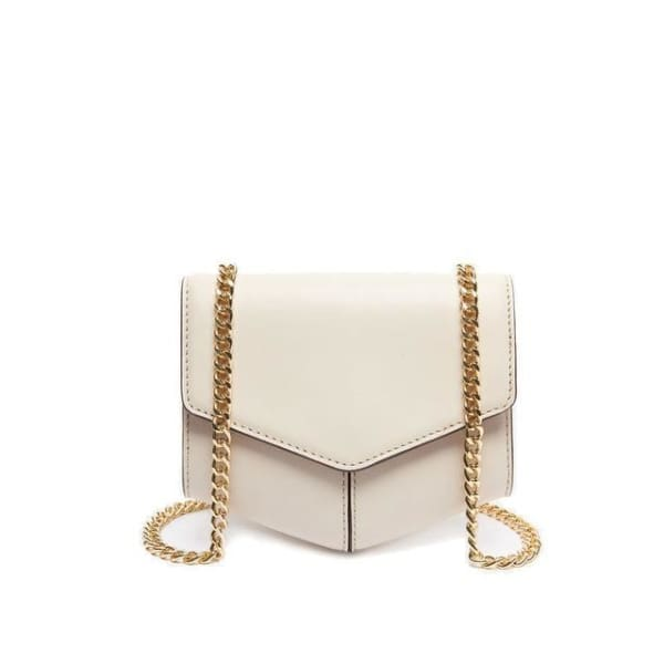 Leather Envelope Messenger - White - Envelope