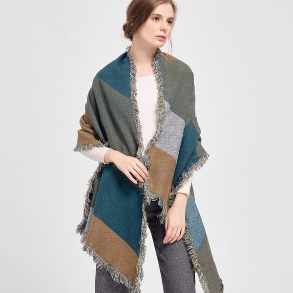 SAN VITALE Large Cashmere Blend Scarf Wrap - Scarf