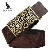 Womens Genuine Leather Vintage Belt - Belt