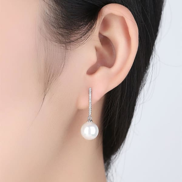 Crystal and Pearl Drop Earrings - Drop Earrings