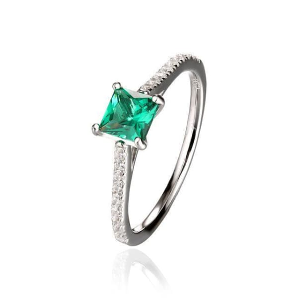 Emerald Green Sterling Silver Ring - 10 / Green - Ring