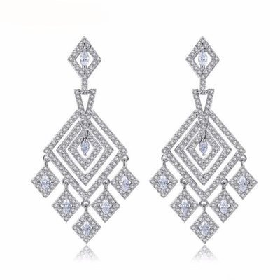 Modern Art Deco Chandelier Earrings - Chandelier Earrings