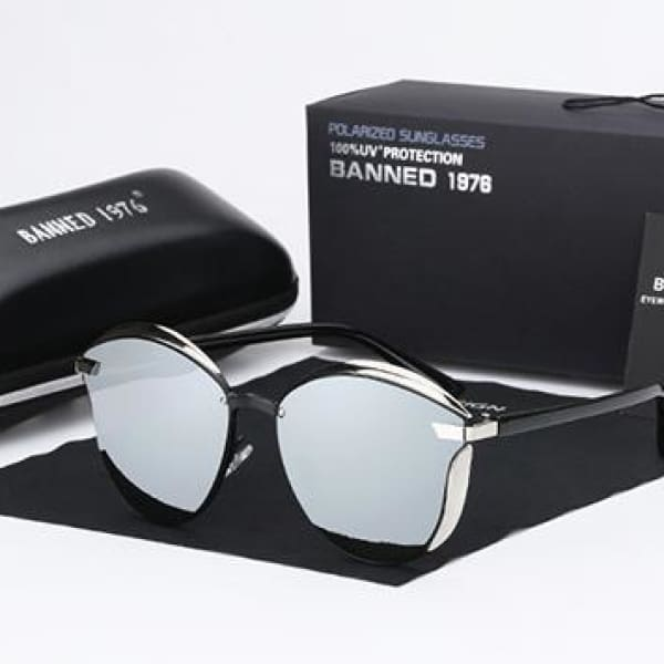 BANNED 1976 Retro Style Pilot Sunglasses - Mirror - Sunglasses