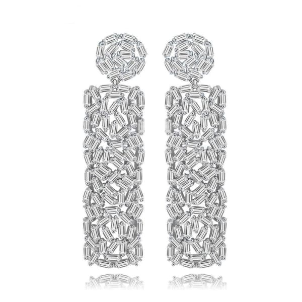 Baguette Crystal Earrings - Drop Earrings