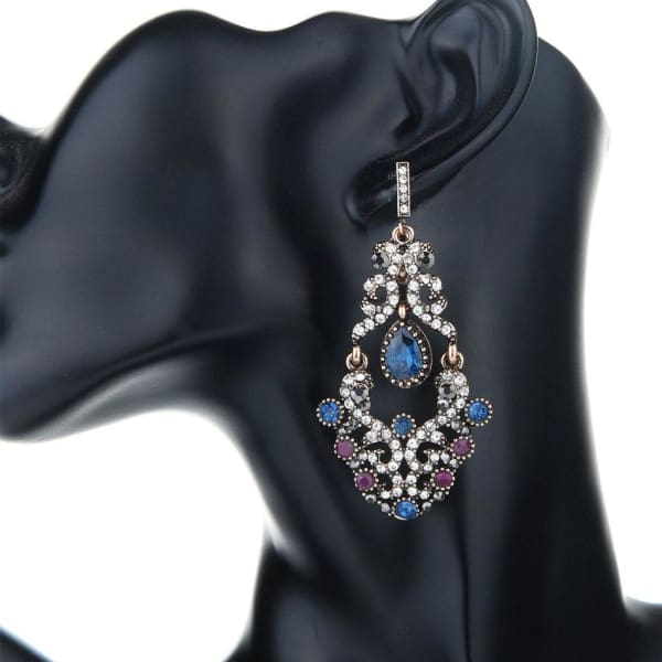 Vintage Chandelier Crystal Earrings - Chandelier