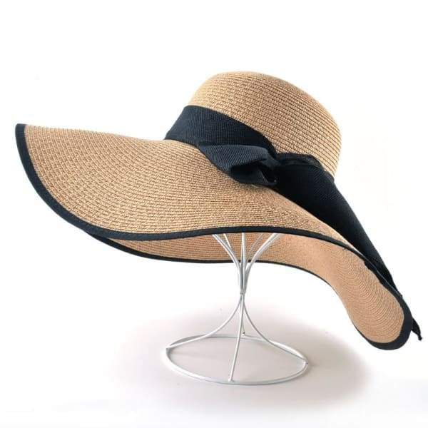 Floppy Straw Hat with Bow - Floppy