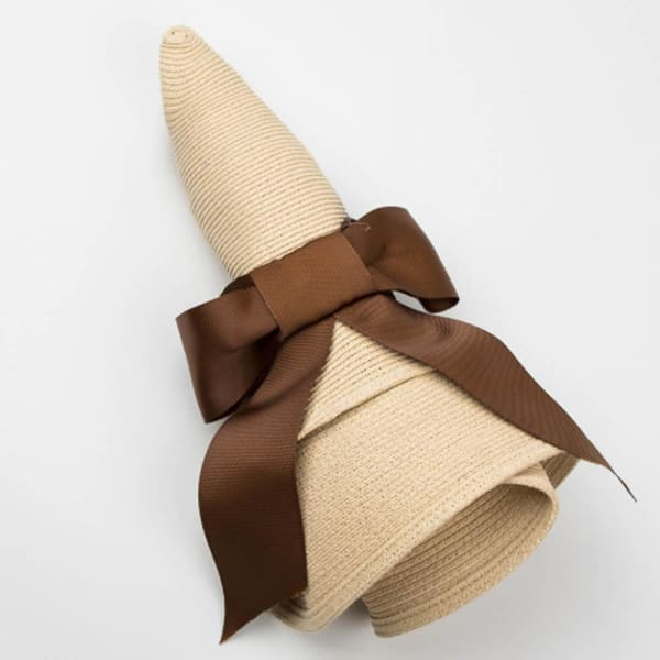 Wide Brim Cloche Straw Hat - Cloche