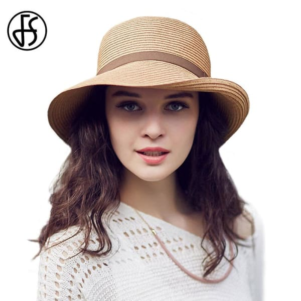 Fitted Straw Bucket Hat - Wide Brim
