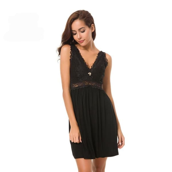 Lace Knit Nightgown - Night Gown