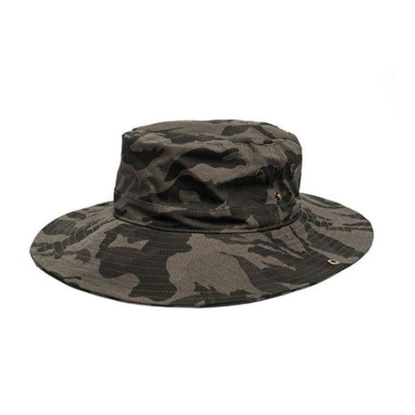 Camouflage Wide Brim Hat - Army Green / Women Size - Wide Brim