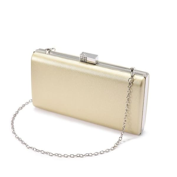 Evening Clutch - Metallic Light Gold / Imported - Clutch