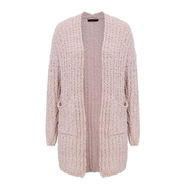 Long Casual Cardigan - Pink / One Size - Cardigan