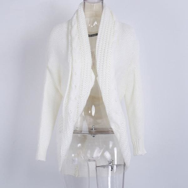 Shrug Knitted Cardigan - White / One Size - Sweater