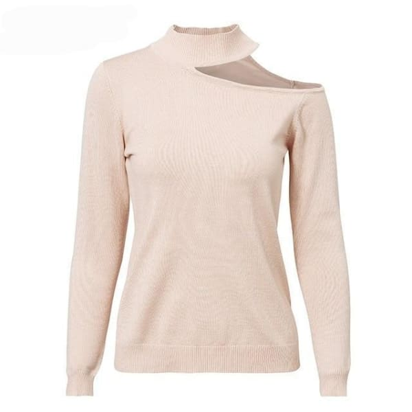Off Shoulder Sweater - Light Pink / S - Sweater