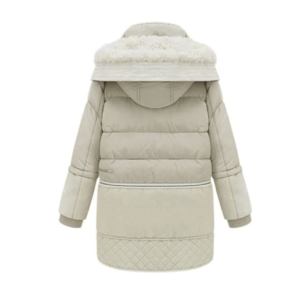 Quilted Hooded Puffer Coat - Coat