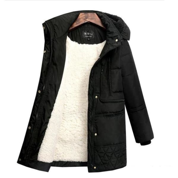 Quilted Hooded Puffer Coat - Black / S - Coat