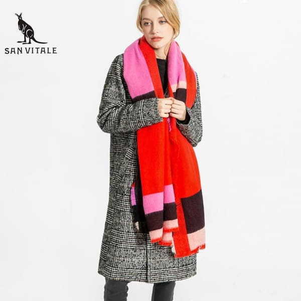 SAN VITALE Womens Colorful Stripe Scarf - Scarf