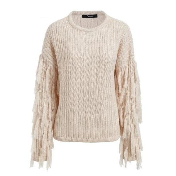 Tassel Sweater - Apricot / One Size - Sweater
