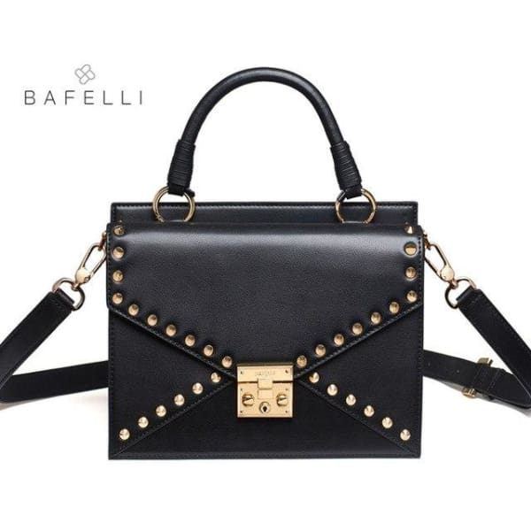 BAFELLI Riveted Satchel - Black - Satchel