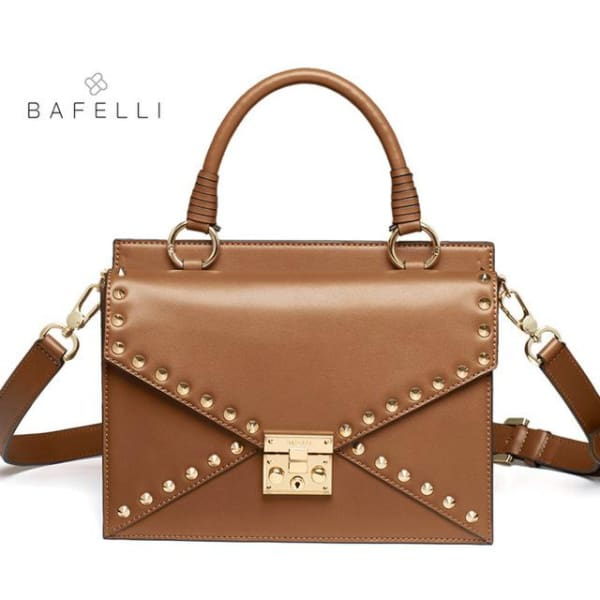 BAFELLI Riveted Satchel - Brown - Satchel