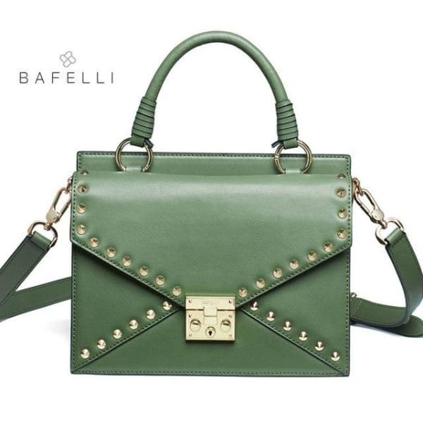 BAFELLI Riveted Satchel - Green - Satchel