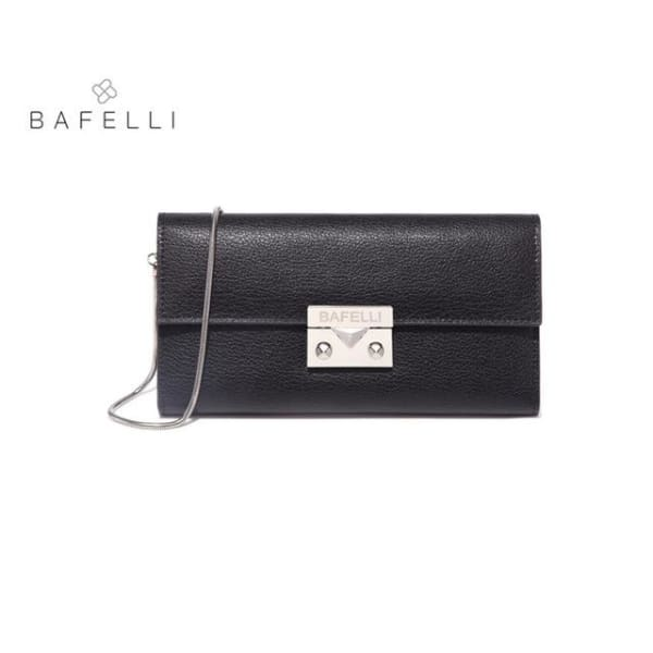BAFELLI Classic Leather Clutch - Black - Clutch