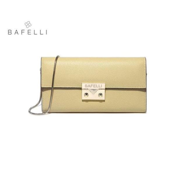 BAFELLI Classic Leather Clutch - Yellow - Clutch