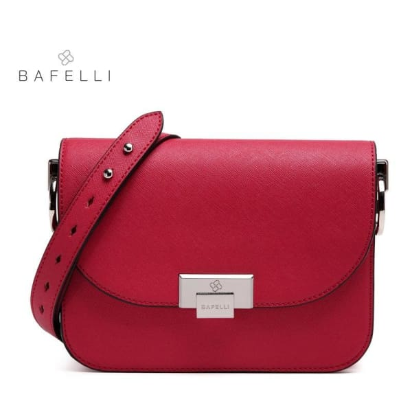 BAFELLI Messenger Bag - Red / 8.5W x 6.5H x 2D - Messenger