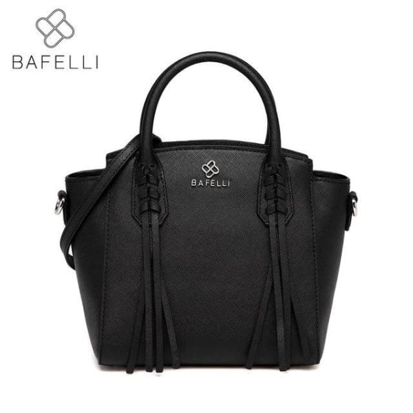 BAFELLI Trapeze Bag with Tassels - Black - Trapeze