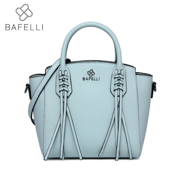 BAFELLI Trapeze Bag with Tassels - Sky Blue - Trapeze