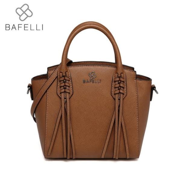 BAFELLI Trapeze Bag with Tassels - Brown - Trapeze