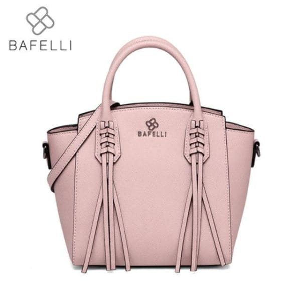 BAFELLI Trapeze Bag with Tassels - Pink - Trapeze