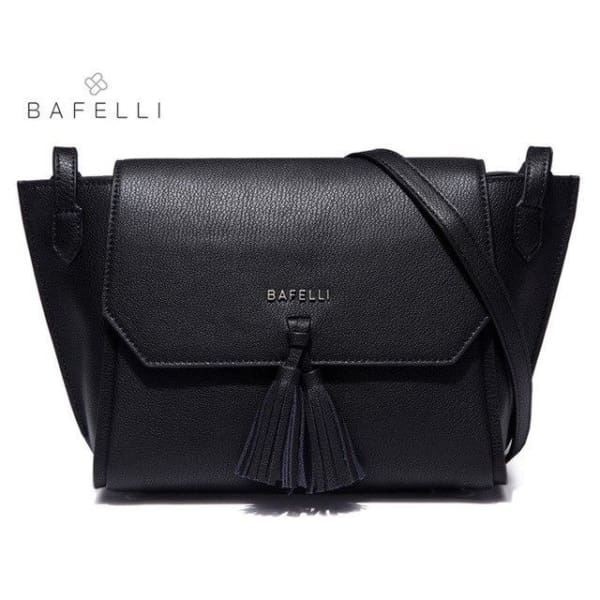 BAFELLI Trapeze Crossbody with Tassels - Black - Trapeze