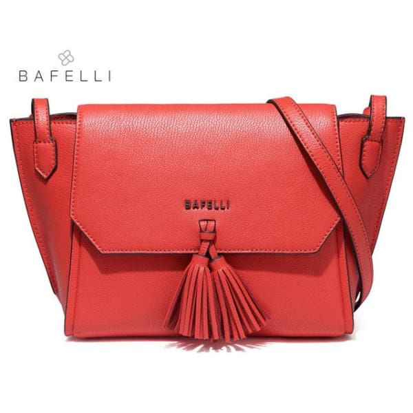 BAFELLI Trapeze Crossbody with Tassels - Red - Trapeze