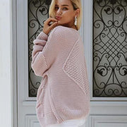 Cable Knit Cardigan Sweater - Cardigan